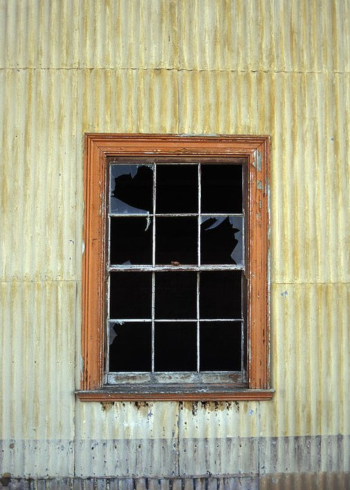 Broken Window Patagonia Chile Greeting Card featuring the photograph Kitchen Window by Marcus Best