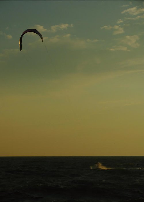 Kite Surfer Greeting Card featuring the photograph Kite Surfer by Juergen Roth