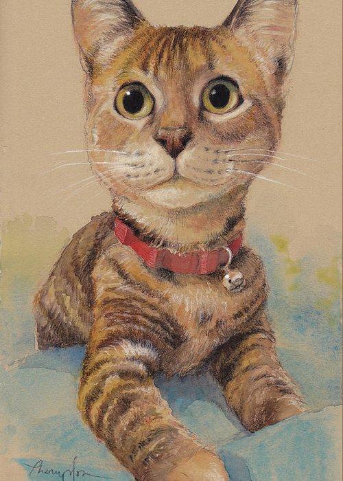 Kitten Mixed Media Greeting Cards