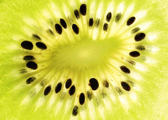 Close Greeting Card featuring the photograph Kiwi Fruit by Paul Ge