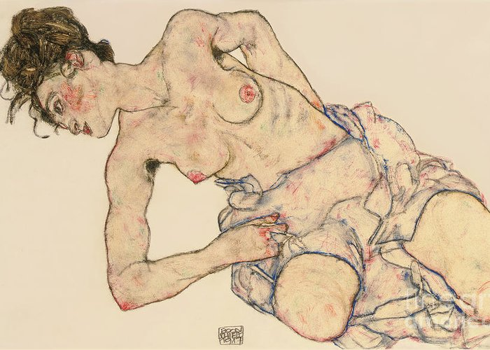 Female Body Drawings Greeting Cards