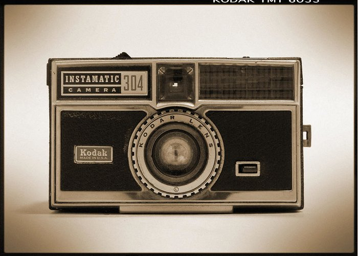 Vintage Kodak Camera Greeting Card featuring the photograph Kodak Instamatic Camera by Mike McGlothlen