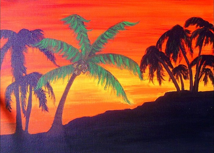 Dun Greeting Card featuring the photograph Kona Sunset by Charles Jennison