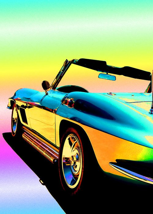 Car Greeting Card featuring the photograph Kool Corvette by Lynn Andrews