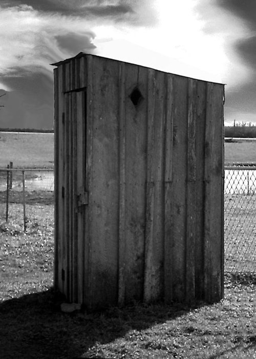 Ansel Adams Greeting Card featuring the photograph Koyl Cemetery Outhouse5 by Curtis J Neeley Jr