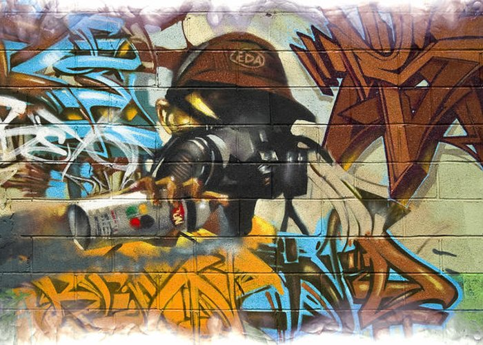 Graffiti Greeting Card featuring the photograph Krylon King by William Alger
