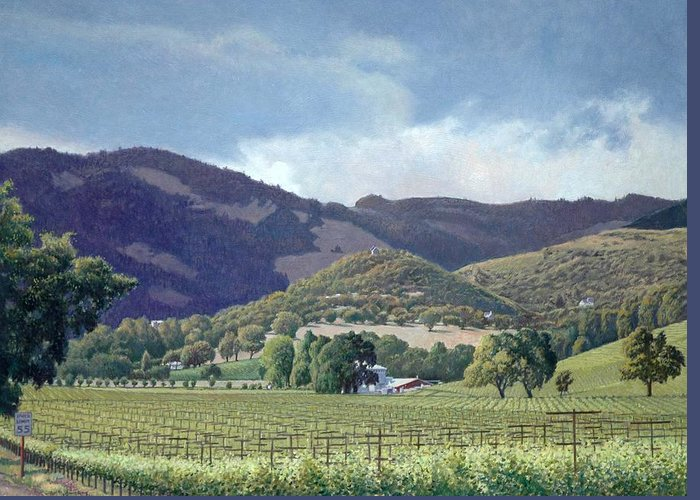 Kunde Winery Estate Greeting Card featuring the painting Kunde by Paul Youngman