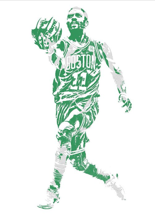 332b2f0b91f Kyrie Irving Boston Celtics Pixel Art 43 Greeting Card for Sale by Joe  Hamilton