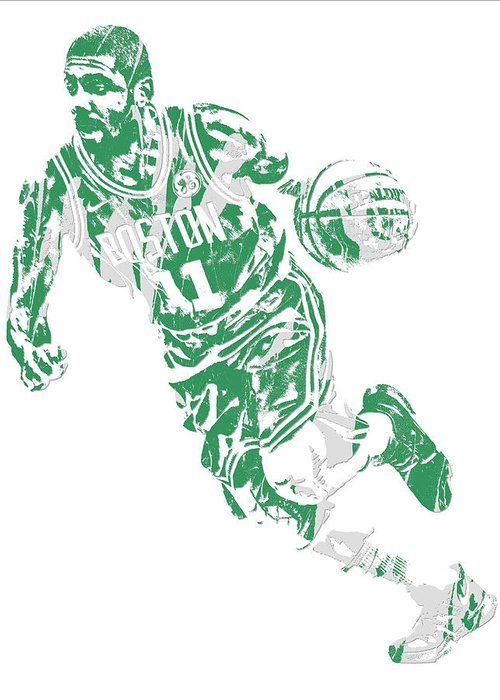 c89a615c382 Kyrie Irving Boston Celtics Pixel Art 9 Greeting Card for Sale by ...