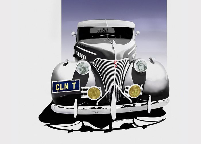 Chevrolet Greeting Card featuring the digital art La Bomba Lowrider by Colin Tresadern