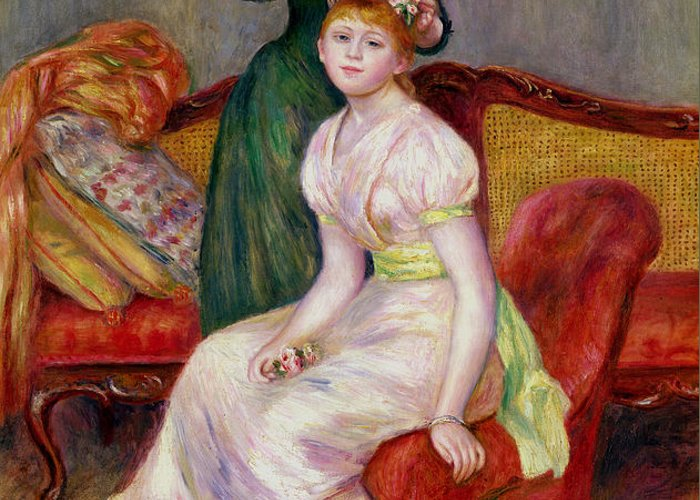 Coiffure Greeting Card featuring the painting La Coiffure by Renoir