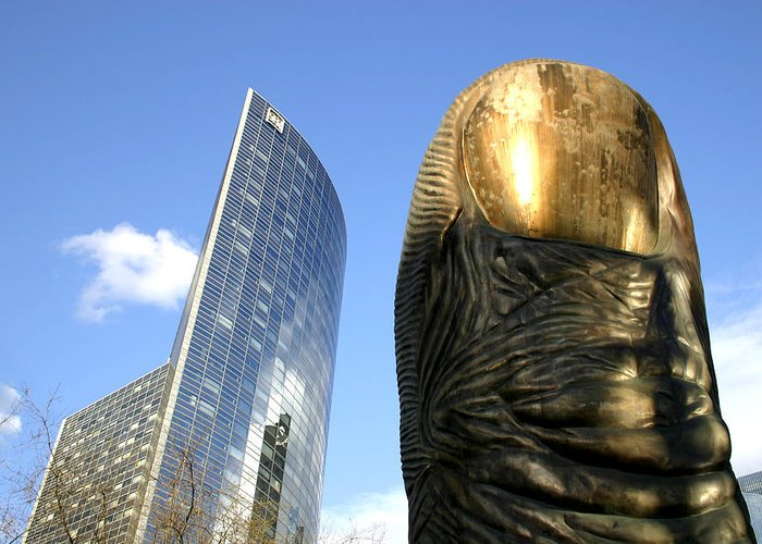 Paris Greeting Card featuring the photograph La Defense by Hans Jankowski