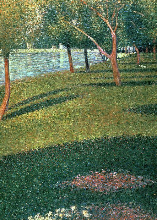 Famous Greeting Card featuring the painting La Grande Jatte by Georges Pierre Seurat