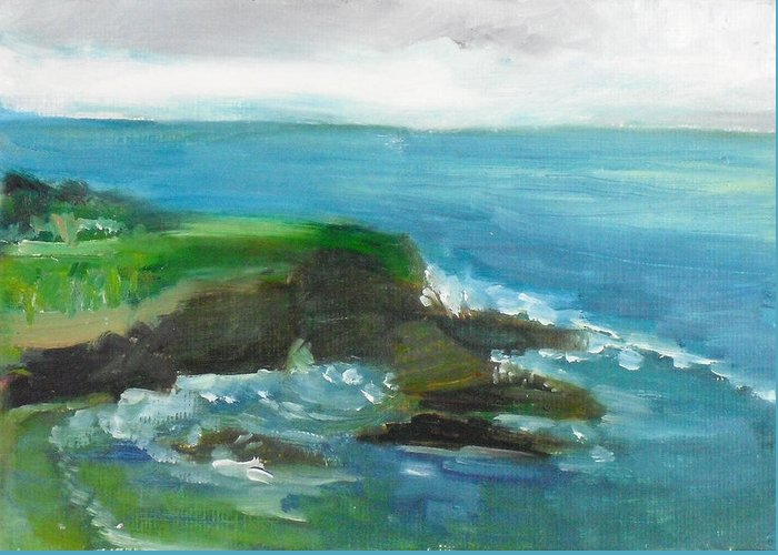 100 Paintings Greeting Card featuring the painting La Jolla Cove 026 by Jeremy McKay