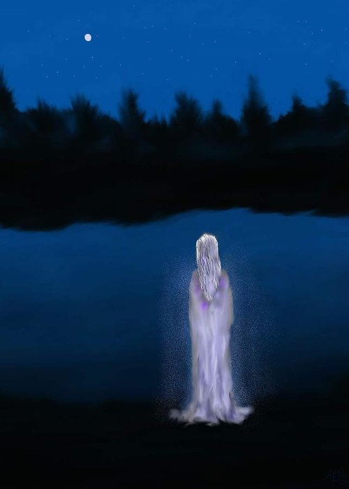 Lanscapes Greeting Card featuring the painting La Llorona by Abel Padilla
