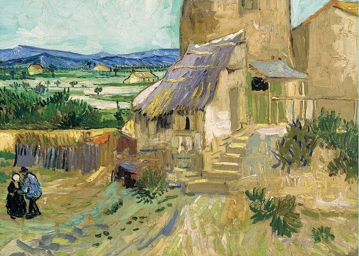 Art Greeting Card featuring the painting La Maison De La Crau The Old Mill by Artistic Panda