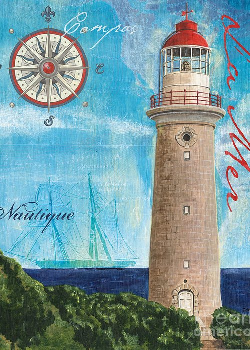 Lighthouse Sea Greeting Cards