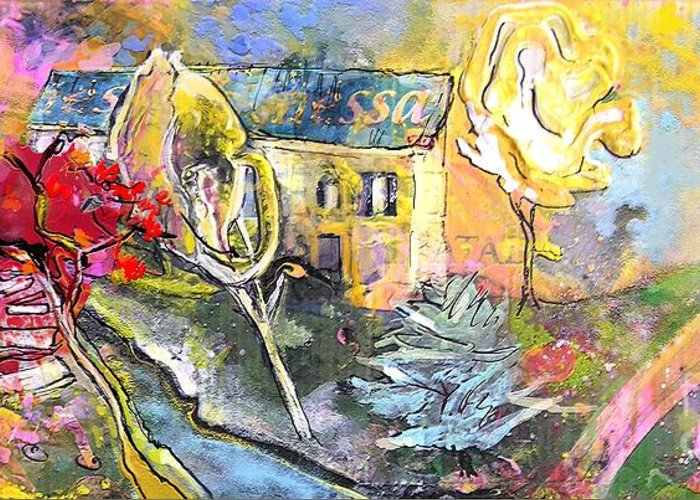 Landscape Painting Greeting Card featuring the painting La Provence 11 by Miki De Goodaboom