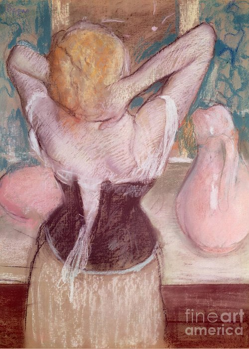 Toilette Greeting Card featuring the painting La Toilette by Edgar Degas