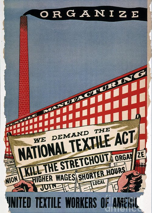 1935 Greeting Card featuring the photograph Labor Poster, 1935 by Granger