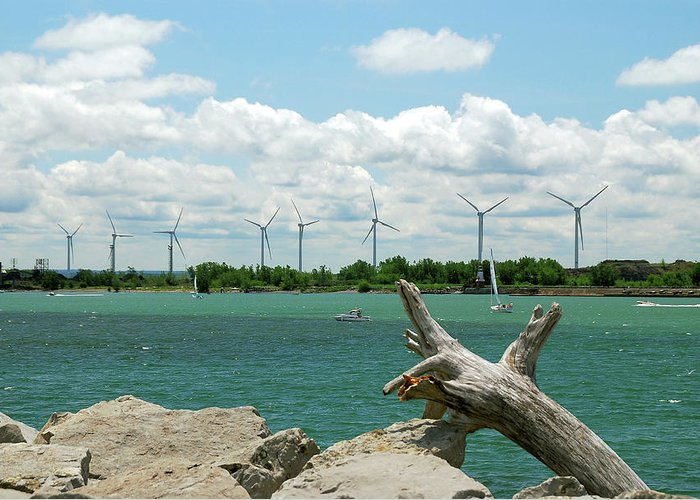 Wind Turbines Greeting Card featuring the photograph Lackawanna Wind Farm 5079 by Guy Whiteley