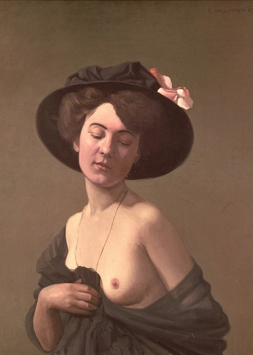 Lady Greeting Card featuring the painting Lady In A Hat by Felix Edouard Vallotton