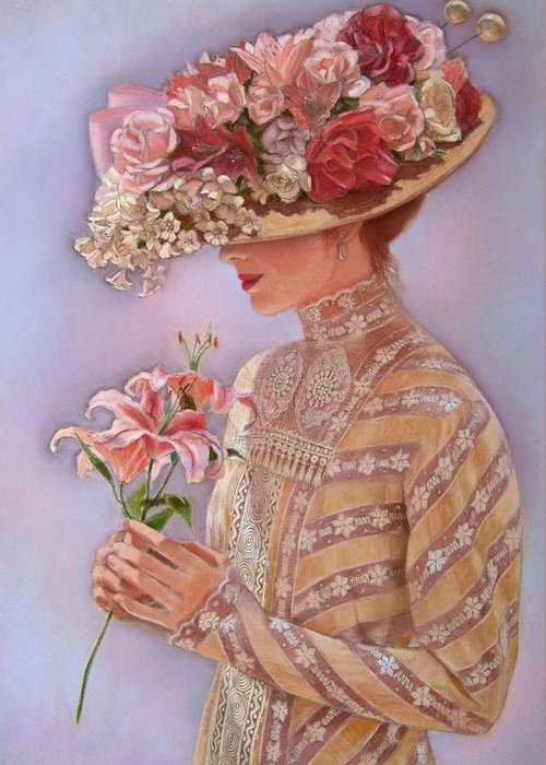 Elegant Lady Greeting Cards