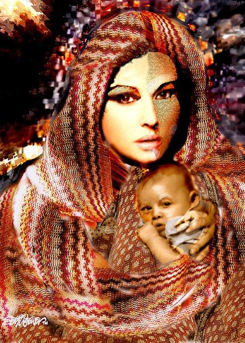 Ladyt Madonna Greeting Card featuring the digital art Lady Madonna by Seth Weaver