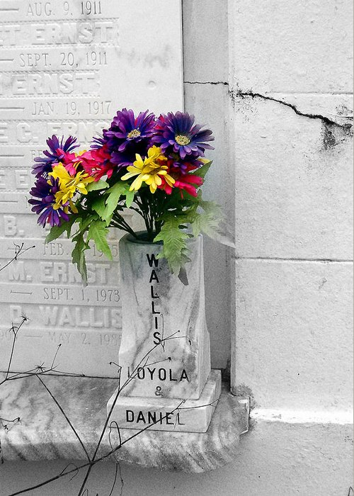 Flowers Greeting Card featuring the photograph Lafayette No One Bouquet by Heather S Huston
