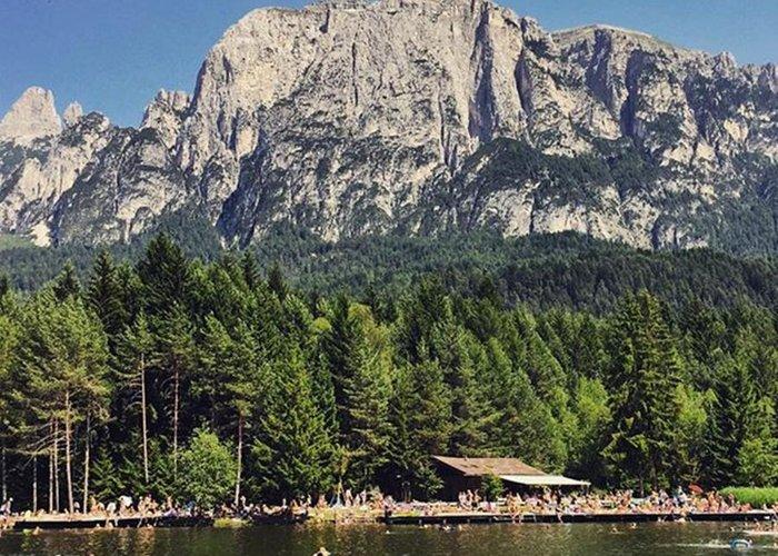Mountain Greeting Card featuring the photograph Laghetti Di Fiè #altoadige #landscape by Luisa Azzolini