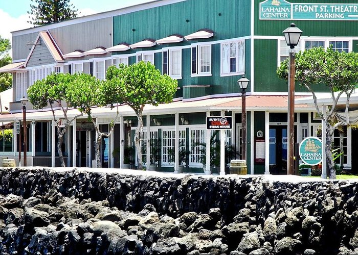 Lahaina Greeting Card featuring the photograph Lahaina Center on Front Street by Kirsten Giving
