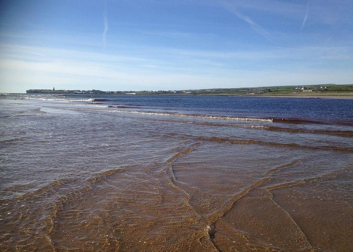 Atlantic Ocean Greeting Card featuring the photograph Lahinch Beach, West Of Ireland by Eoin Gleeson