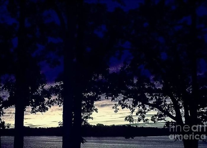 Lake Greeting Card featuring the photograph Lake At Dusk by Emily Kelley