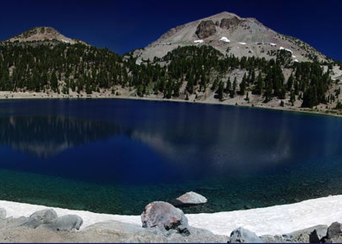 Mirror Greeting Card featuring the photograph Lake Helen Lassen by Peter Piatt