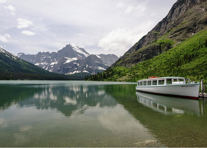 Glacier Greeting Card featuring the photograph Lake Josephine by Margaret Pitcher