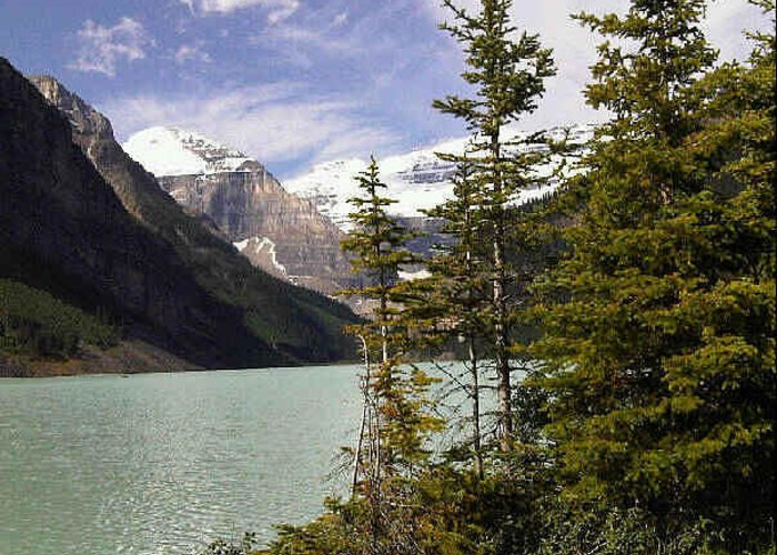 Water Greeting Card featuring the photograph Lake Louise, Banff, Alberta, Canada by Darla Hershey