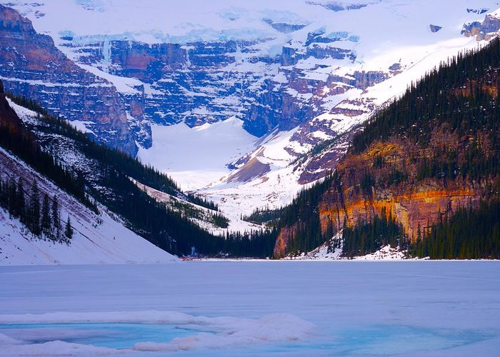 Lake Louise Greeting Card featuring the photograph Lake Louise by Paul Kloschinsky