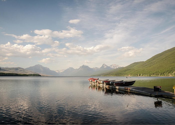 Glacier Greeting Card featuring the photograph Lake Mcdonald by Margaret Pitcher