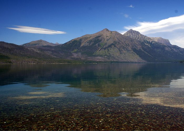 Landscape Greeting Card featuring the photograph Lake Mcdonald Reflection Glacier National Park 2 by Marty Koch
