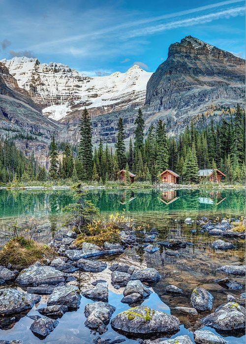 Back Greeting Card featuring the photograph Lake O'hara At Dusk by Pierre Leclerc Photography