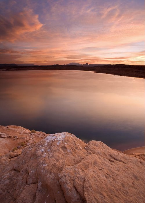 Lake Powell Greeting Card featuring the photograph Lake Powell Dawn by Mike Dawson