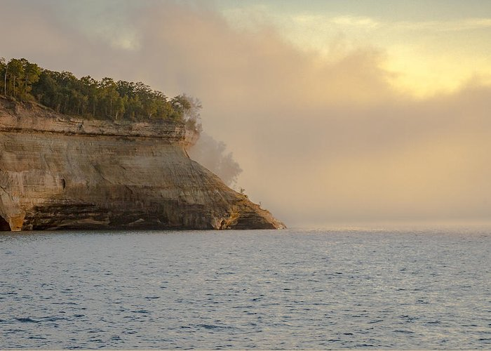 Lake Greeting Card featuring the photograph Lake Superior Fogbank by Jack R Perry