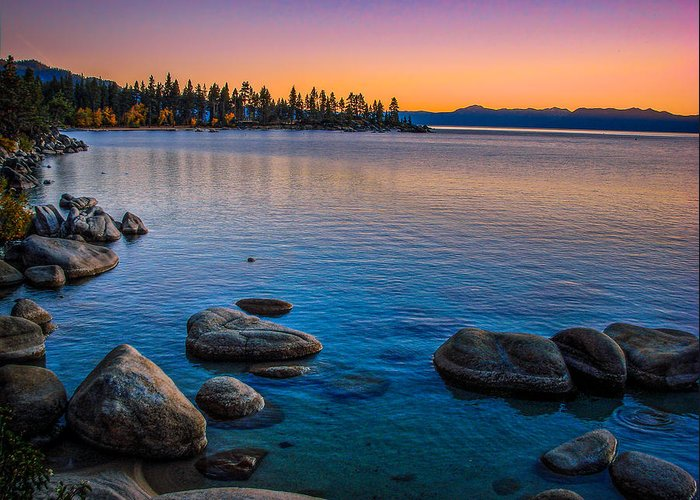 Lake Tahoe State Park Greeting Card featuring the photograph Lake Tahoe State Park Fall Sunset by Scott McGuire