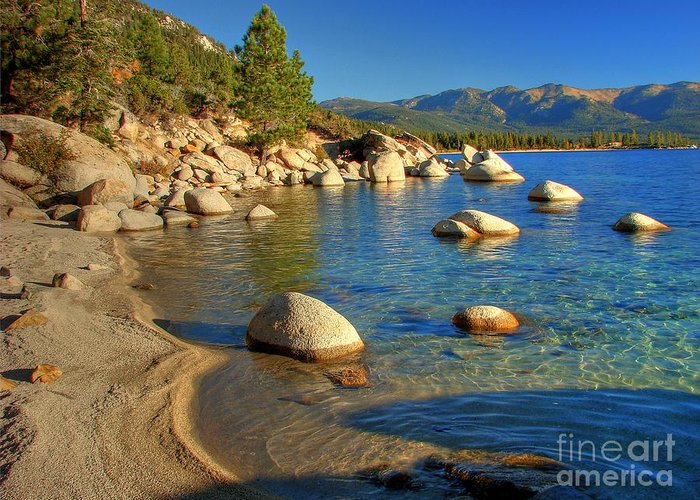 Lake Tahoe Greeting Card featuring the photograph Lake Tahoe Tranquility by Scott McGuire