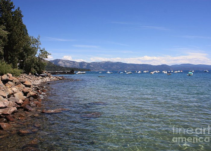 Lake Tahoe Greeting Card featuring the photograph Lake Tahoe Waterscape by Carol Groenen