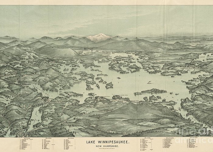 Lake Winnipesaukee Paintings Greeting Cards