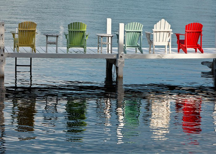 Lake Greeting Card featuring the photograph Lakeside Living by Steve Gadomski