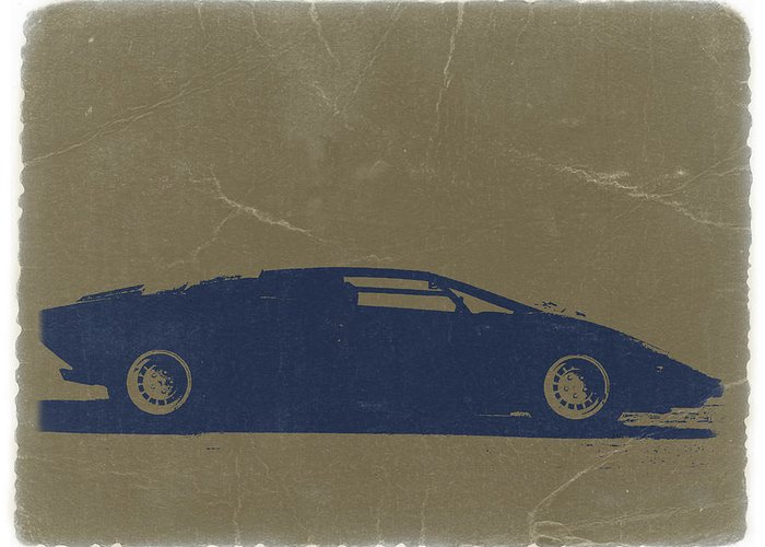Lamborghini Countach Greeting Card featuring the photograph Lamborghini Countach by Naxart Studio
