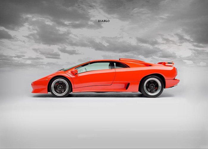 Lamborghini Diablo Sv Greeting Card For Sale By Mark Rogan