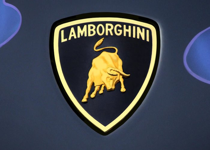 Lamborghini Emblem Greeting Card For Sale By Mike Mcglothlen